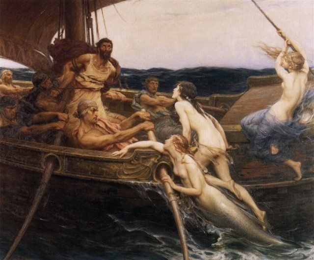 Odissea Ulisse e le Sirene Herbert James Draper 1909
