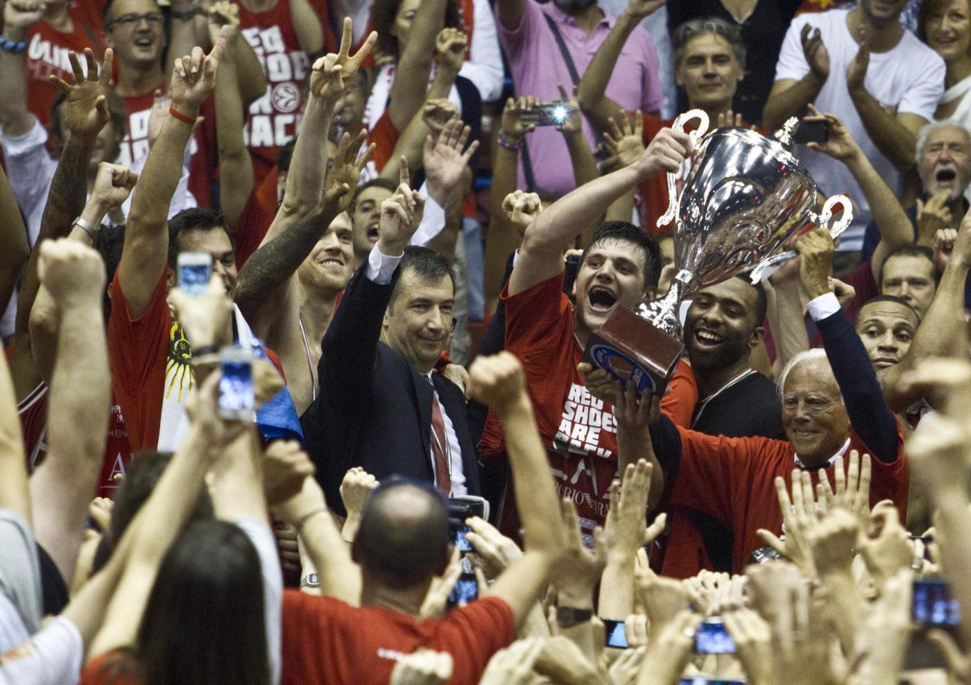 Basket, Milano campione d'Italia dopo 18 anni