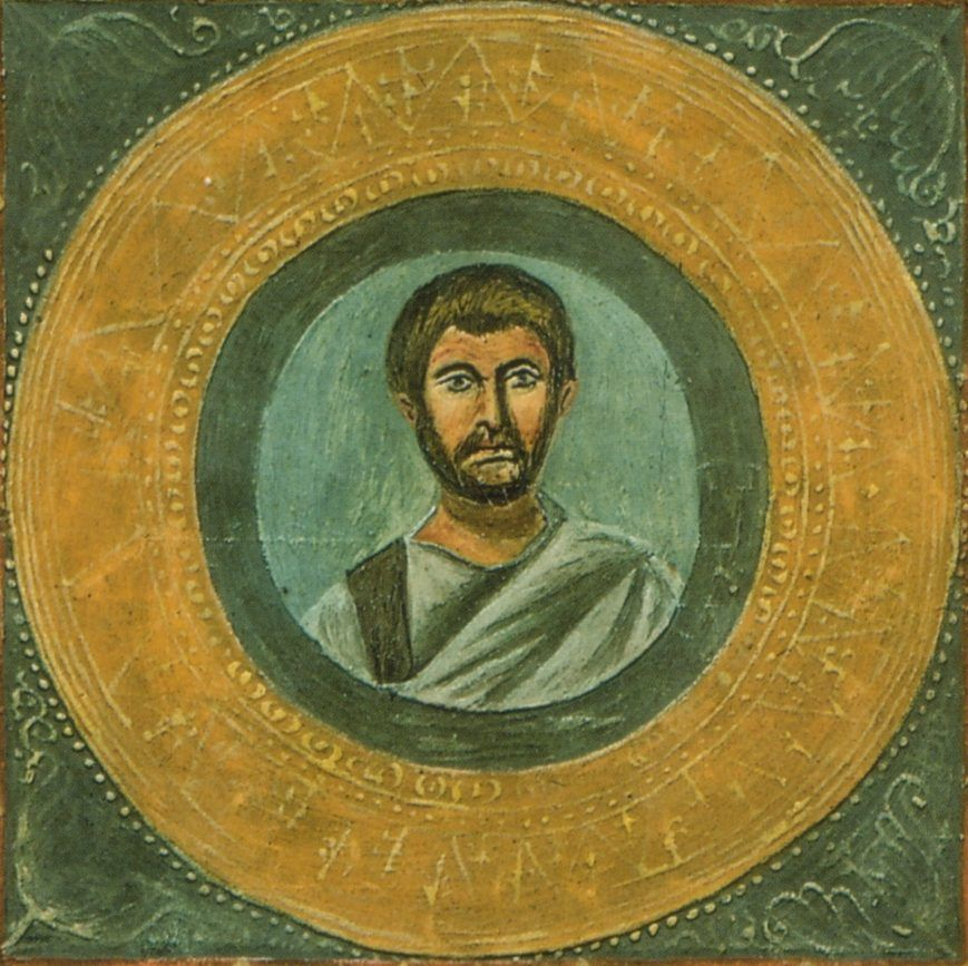 Portrait of Terence from Vaticana Vat  lat1