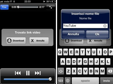 Scaricare video youtube da iOS