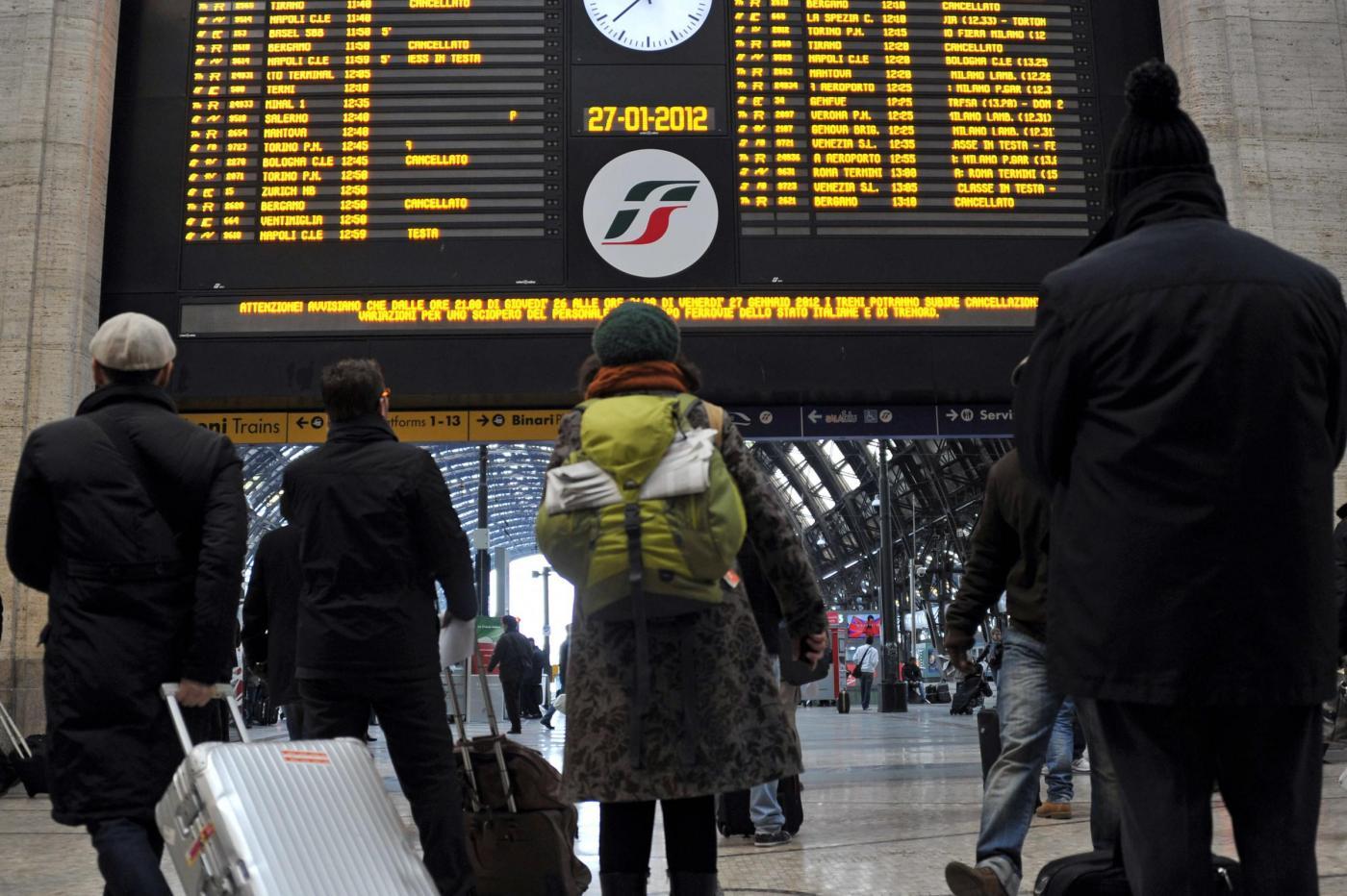 Sciopero treni 12 e 13 luglio 2014: gli orari dello stop