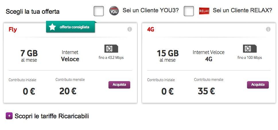 Vodafone Tariffe Internet