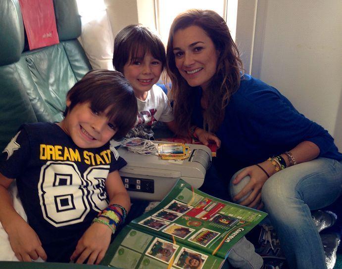 Alena Seredova in Brasile per i Mondiali 2014: ha portato i figli da Buffon
