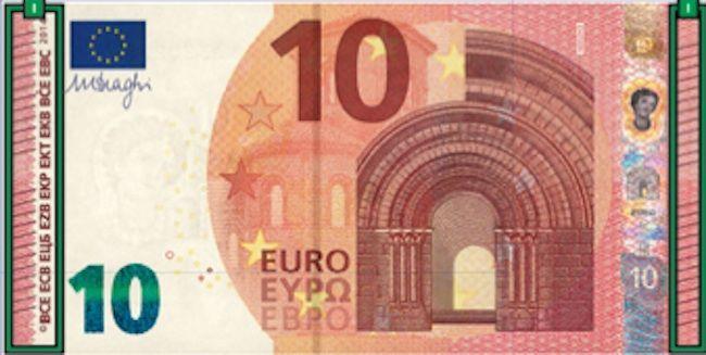 Arriva la nuova banconota da 10 euro