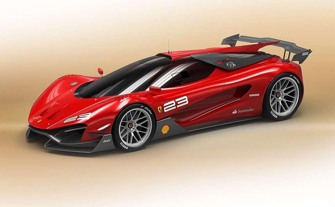Ferrari Xezri Competizione Concept: render della Rossa di domani