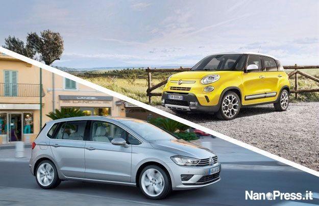 Volkswagen Golf Sportsvan vs Fiat 500L: confronto tra monovolume compatte [FOTO]