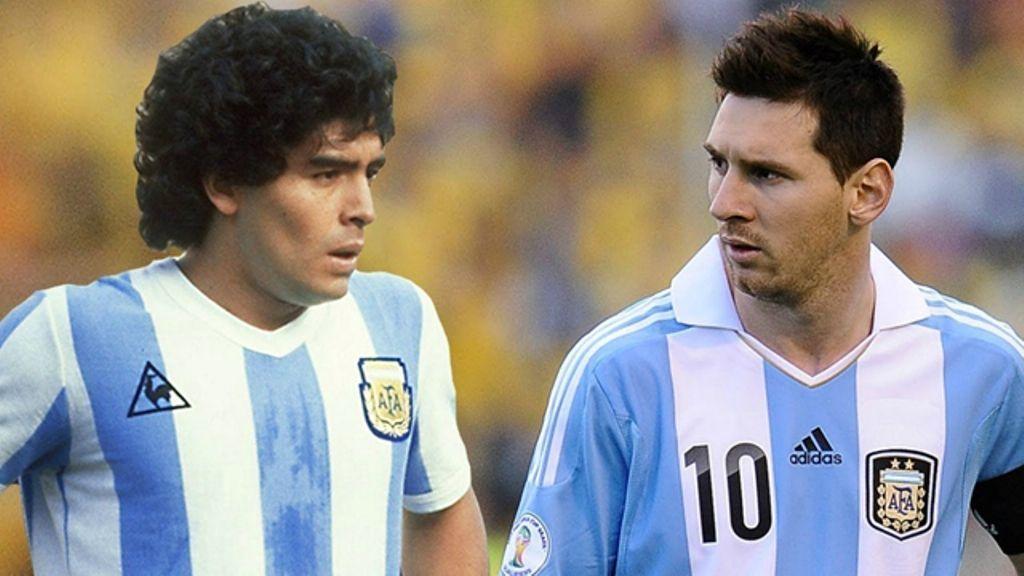 Maradona e Messi: la pulce vuole superare il Mito