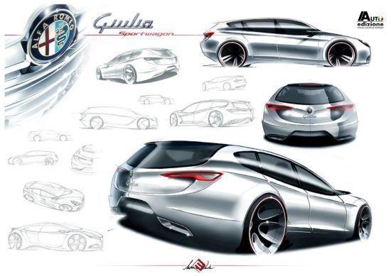 Alfa Romeo Giulia Sportwagon 2014 rendering