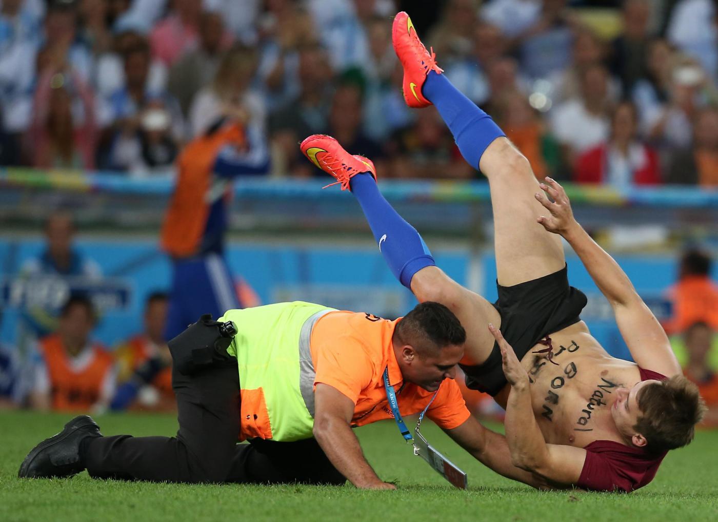 Invasore di campo striker Mondiali 2014