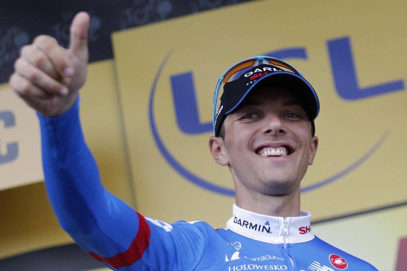 Tour de France 2014: Navardauskas nella pioggia