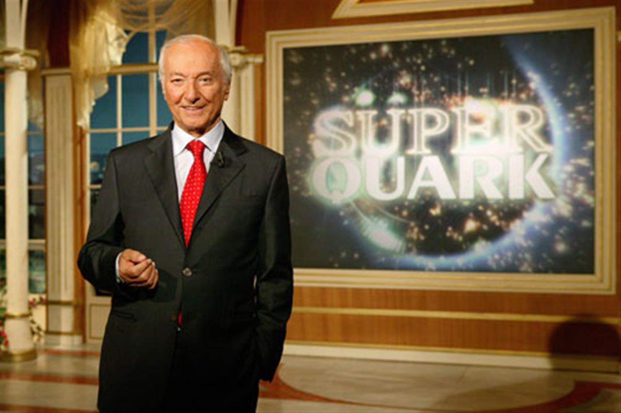 Piero Angela conduttore di SuperQuark