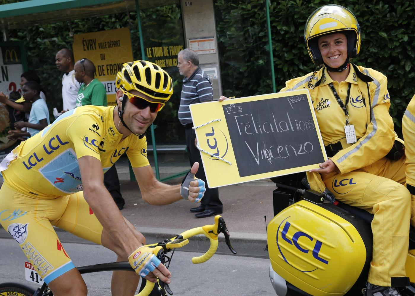 Vincenzo Nibali vince il Tour de France 2014, sedici anni dopo Pantani