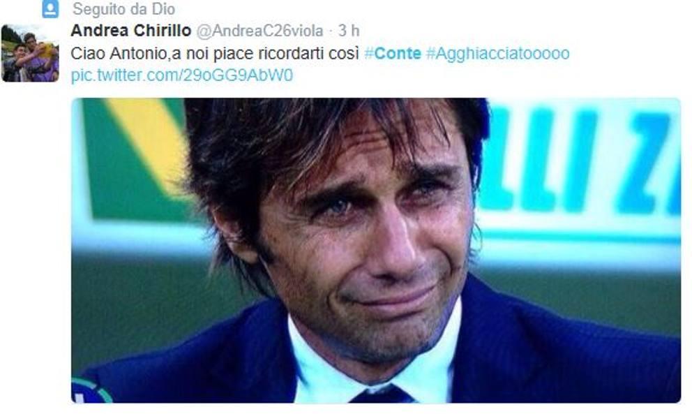 Addio di Conte alla Juventus: l'ironia del web