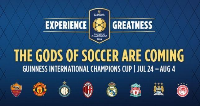 Guinness Cup 2014: orari e calendario del torneo con Milan, Inter e Roma