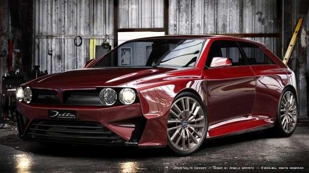 Lancia Delta HF Integrale 2014: render realistico della gloria passata