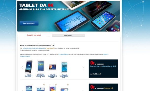 offerte tablet tim annuale