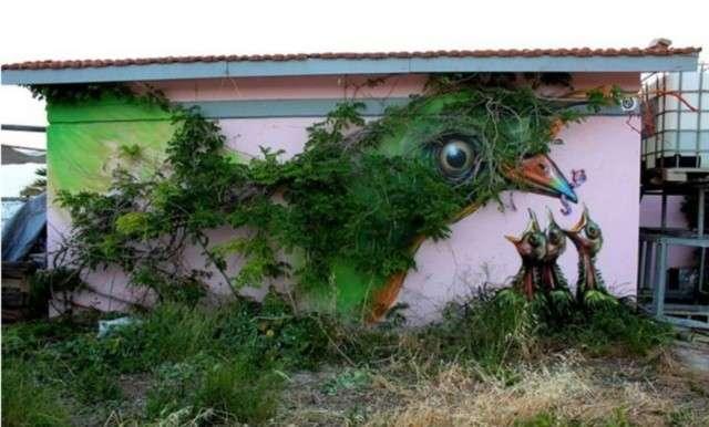 Murales con piante: la nuova moda street art