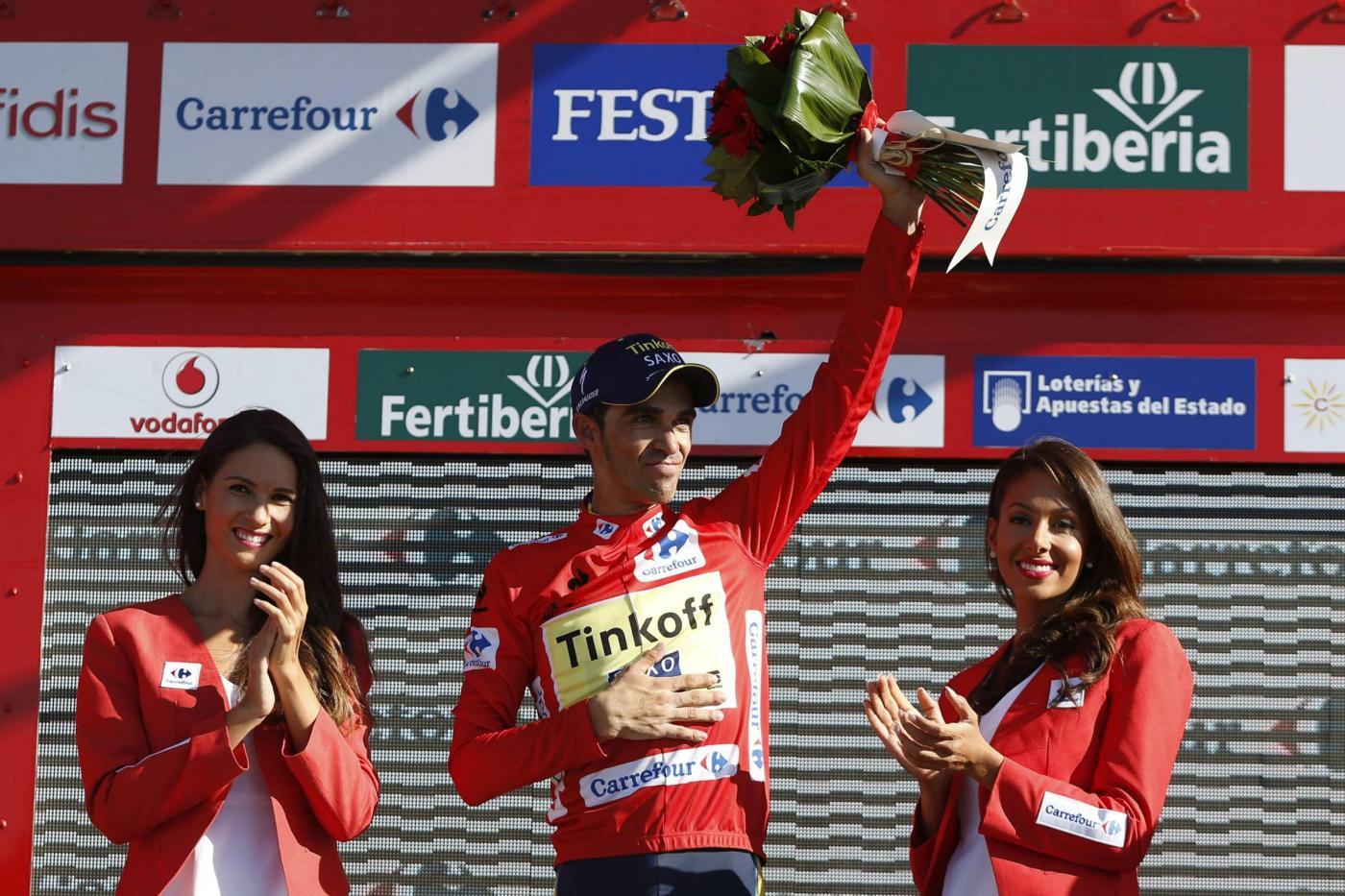 Alberto Contador maglia rossa Vuelta 2014