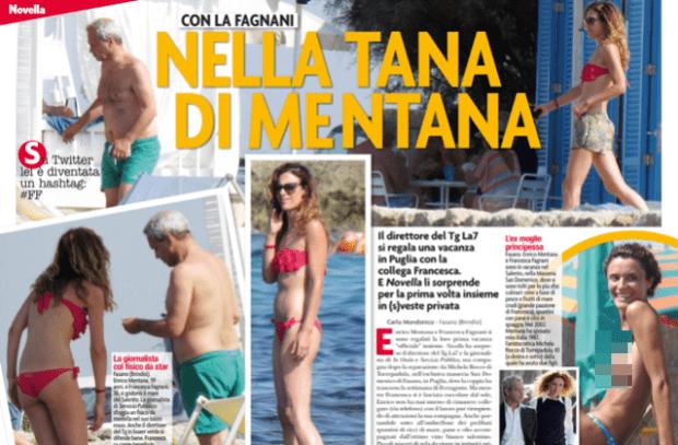Enrico Mentana e Francesca Fagnani insieme in vacanza: la moglie Michela Rocco di Torrepadula le dà della 'Morta di fame'