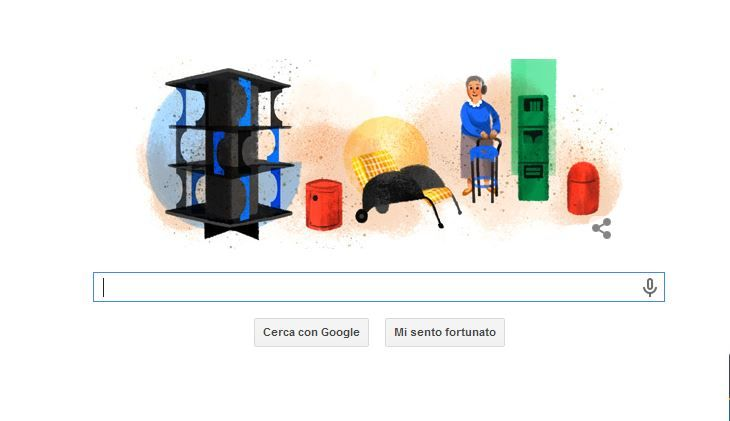 Google doodle: Anna Castelli Ferrieri protagonista del logo che omaggia il design italiano