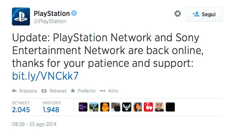 Twitter Playstation attacco