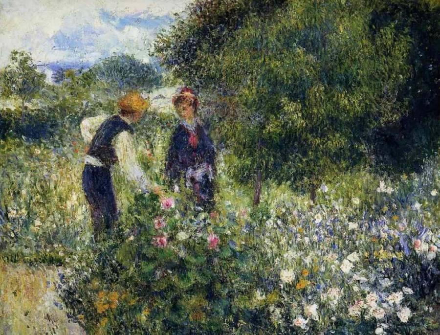 conversazione con il giardiniere
