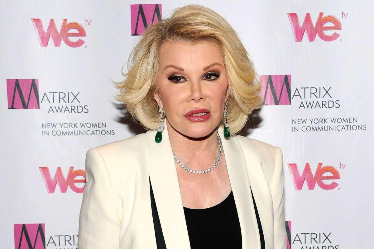 Joan Rivers in gravi condizioni: arresto cardio-respiratorio per l'attrice