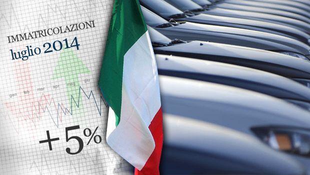 Mercato auto Luglio 2014: +5% nelle vendite