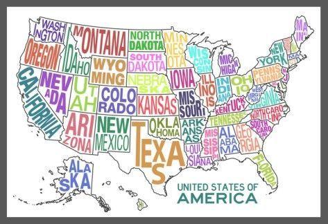 Origine dei nomi degli Stati americani