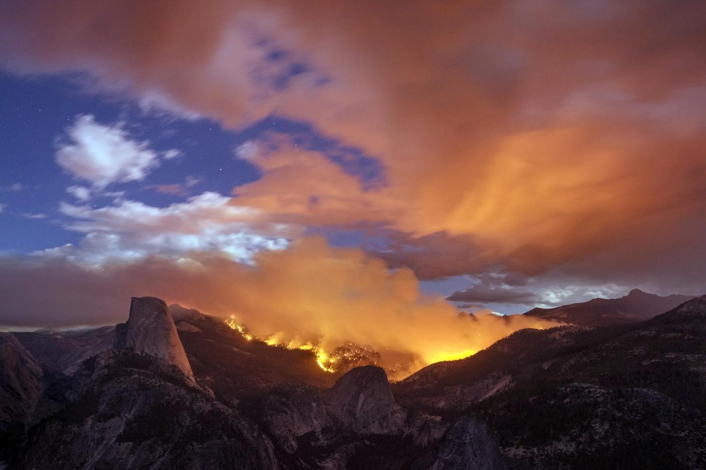 Parco Yosemite: continuano gli incendi in California