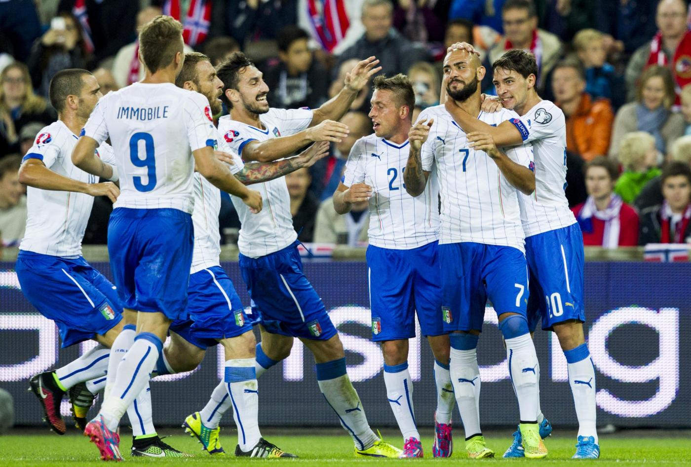 Norvegia vs Italia 0-2: Zaza e Bonucci fanno volare Conte