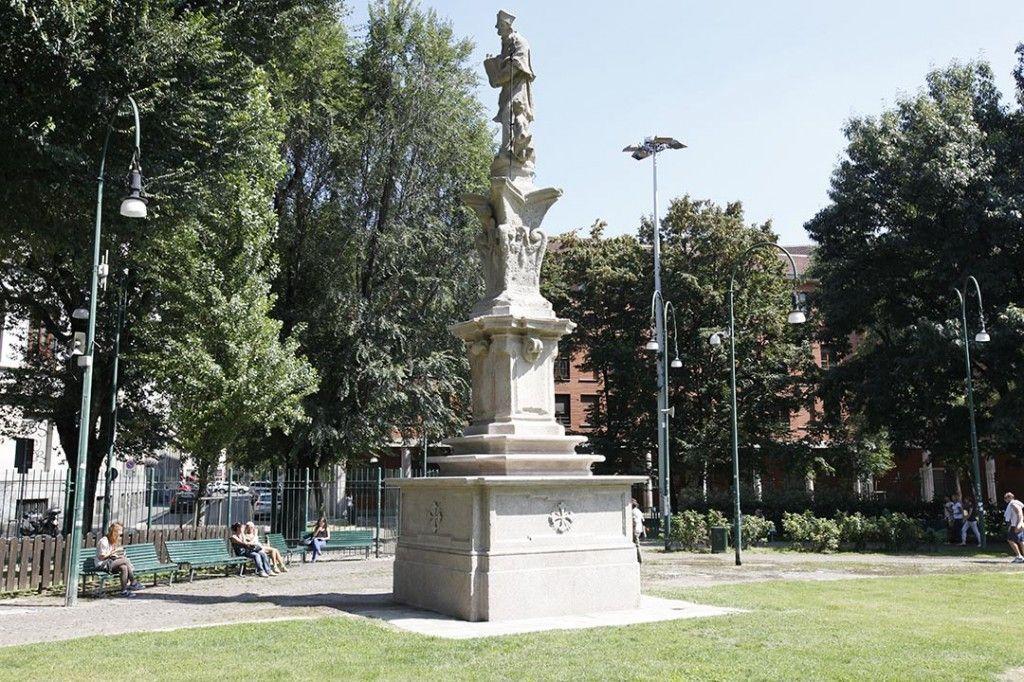 Expo 2015, restaurata la statua di San Lazzaro: sistemato anche l'angelo