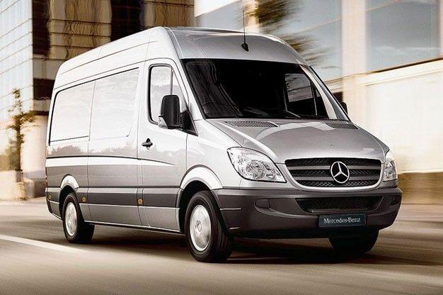 Mercedes Sprinter in movimento