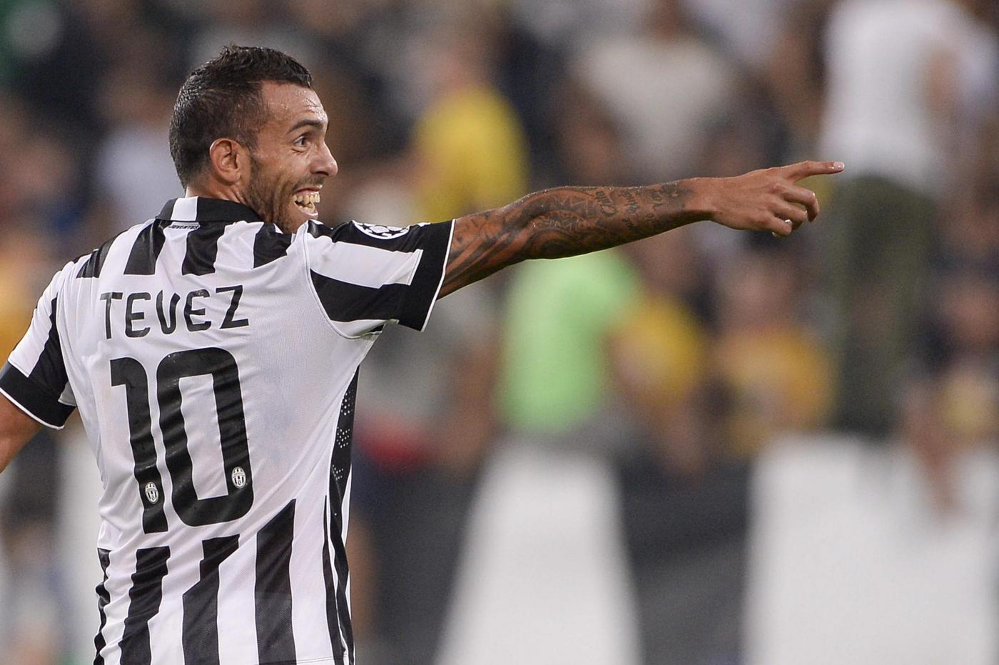 Juventus vs Malmö 2-0: doppio Tevez rompe il digiuno