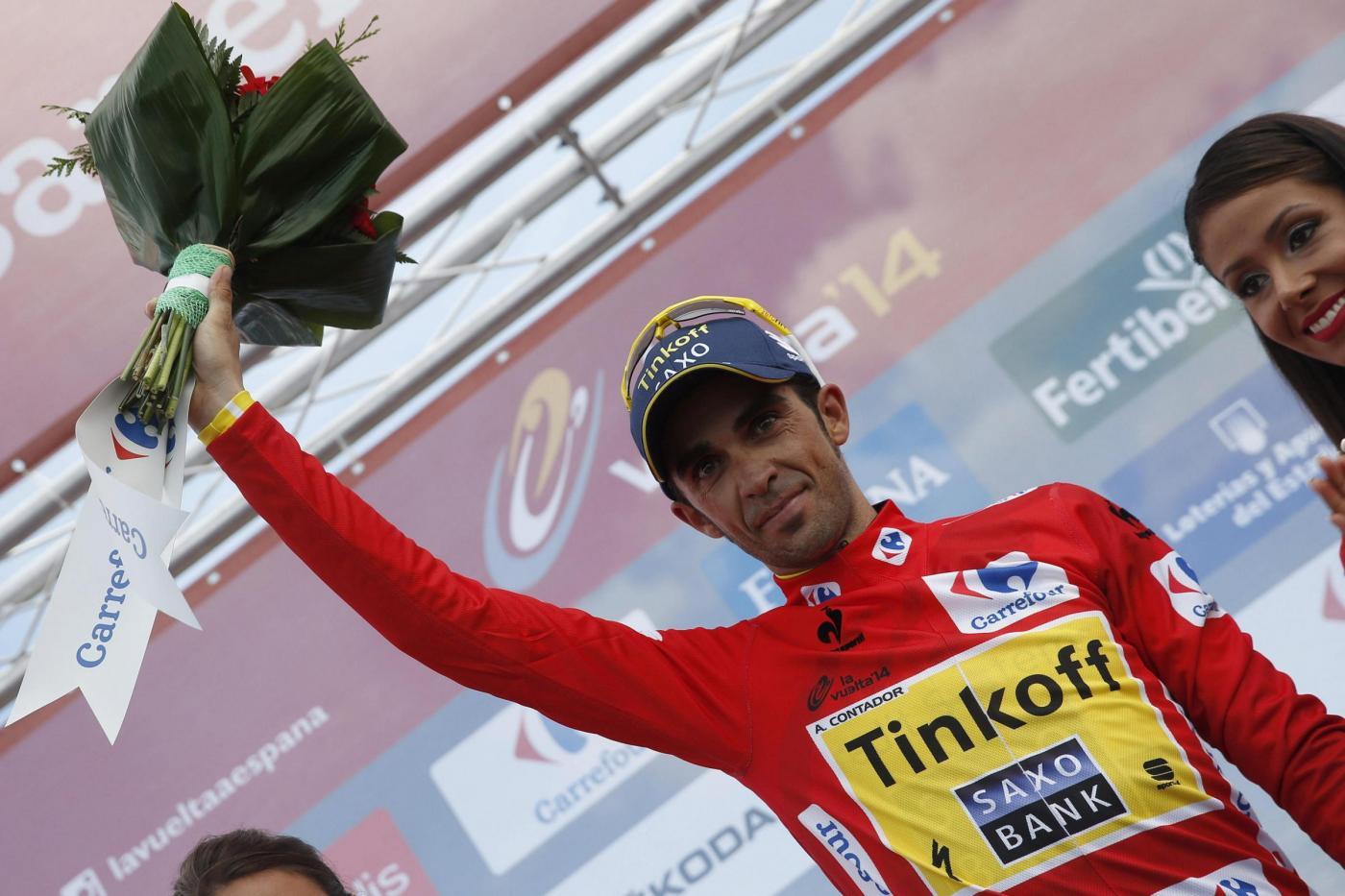 Vuelta di Spagna Contador rosso