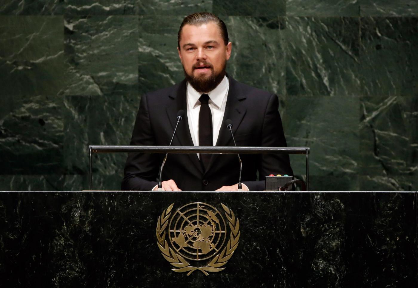 Leonardo DiCaprio all'ONU: l'attore messaggero di pace per il clima