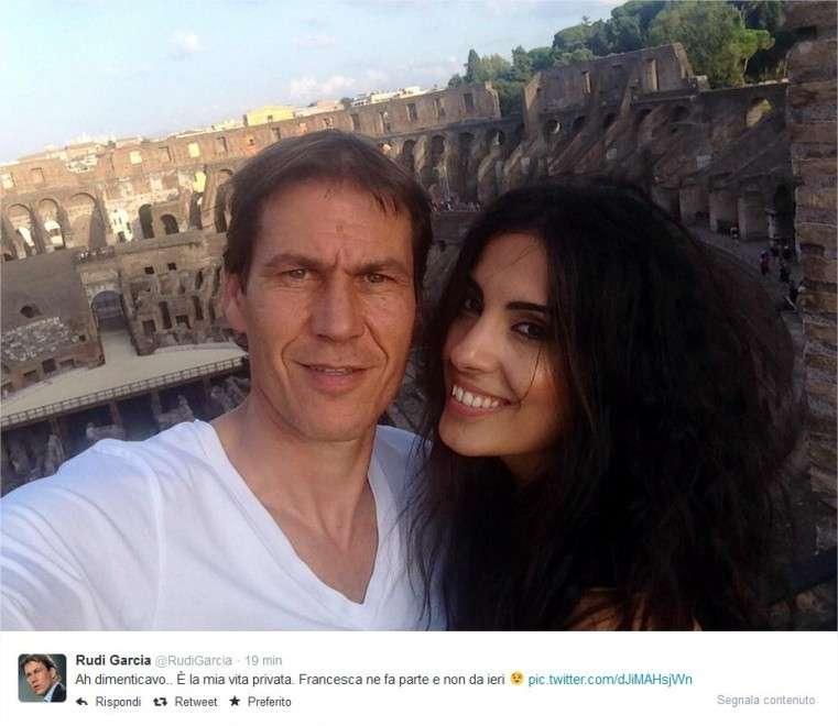 Francesca Brienza la ragazza di Rudi Garcia, allenatore della Roma