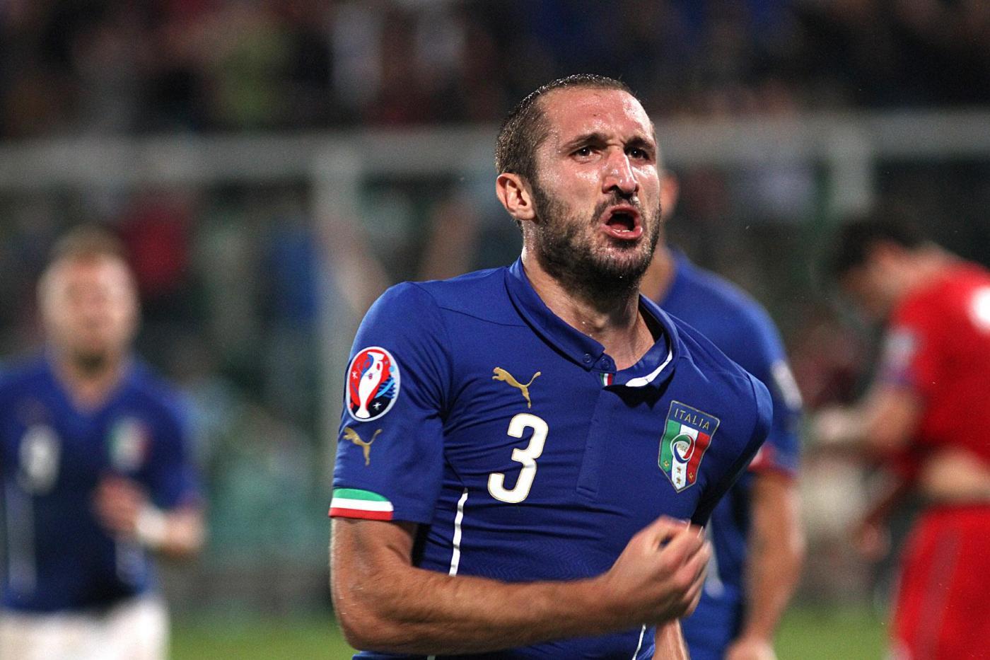 Italia vs Azerbaigian 2-1: fa tutto Chiellini, doppietta e autogol