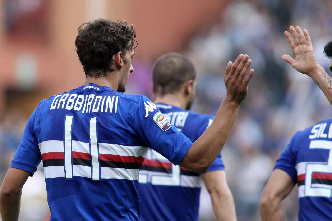 Gabbiadini Samp dopo un gol 150x150