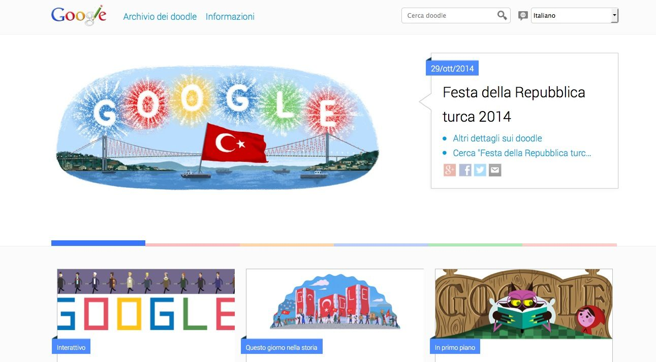 Google Doodle archivio