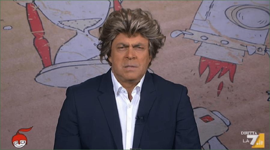 Maurizio Crozza a diMartedì, la copertina a La 7: 'Sky ha più tessere del PD'