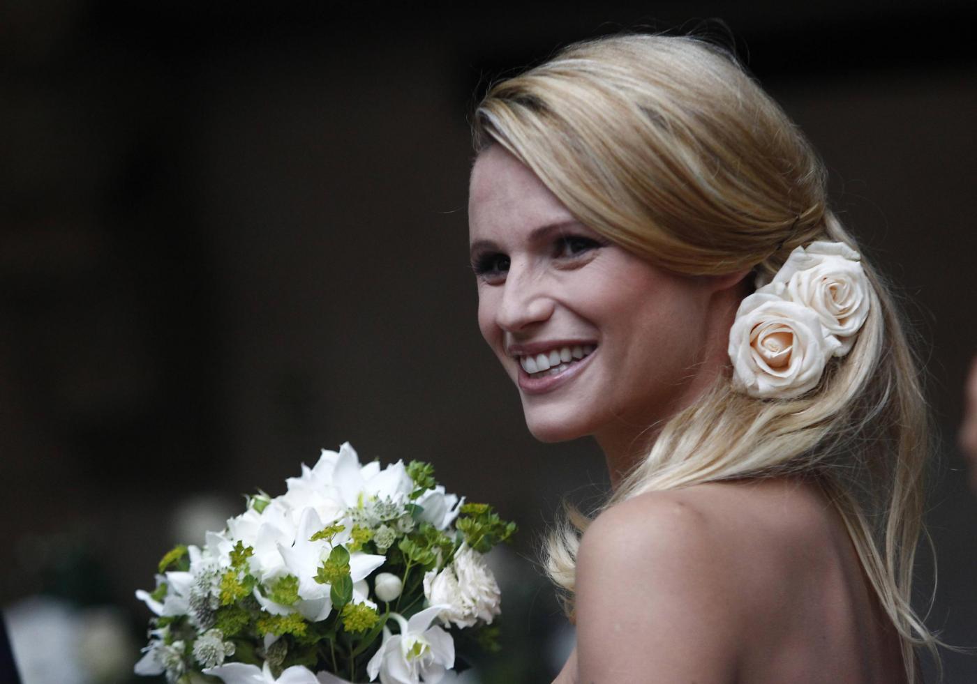 Michelle Hunziker e Tomaso Trussardi sposi: matrimonio a Bergamo