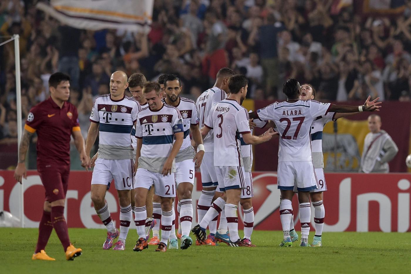 Champions, Roma vs Bayern Monaco 1-7: giallorossi umiliati