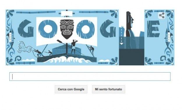 Google doodle per Thor Heyerdahl: il Kon-Tiki per ricordare il centenario della nascita