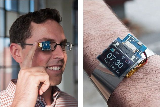Tiny Screen diventa smartwatch o Google Glass e costa 20 dollari