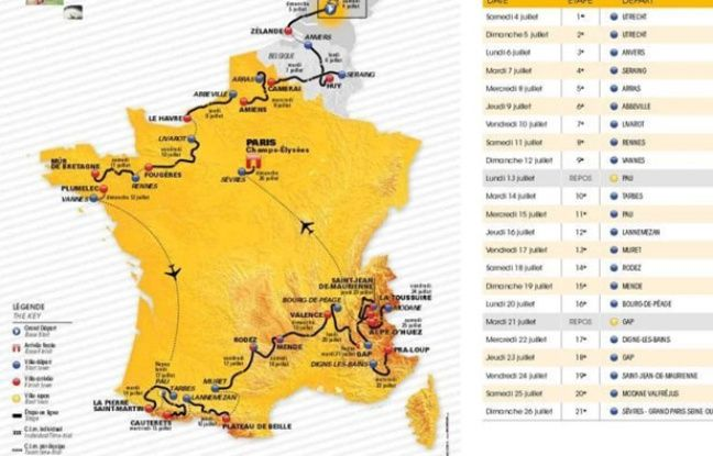 Tour de France 2015: percorso e tappe della corsa francese