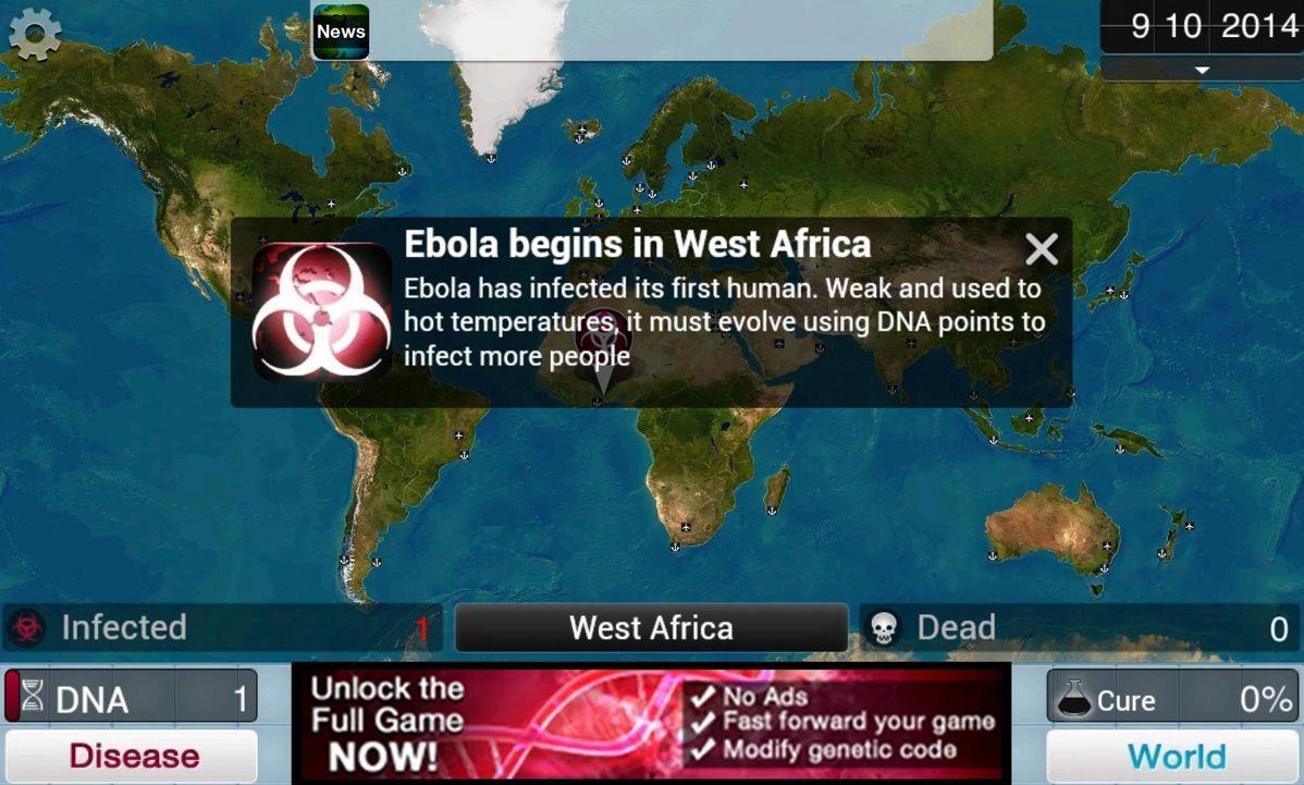 Ebola Simulator: il futuro gioco che specula sulla paura