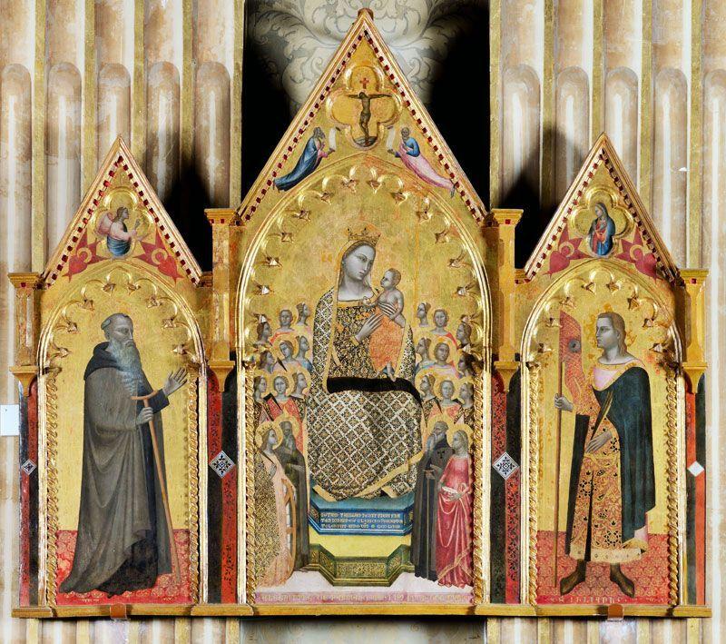 allegretto nuzi madonna in trono con bambino
