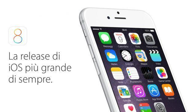 iOS 8 1 aggiornamento