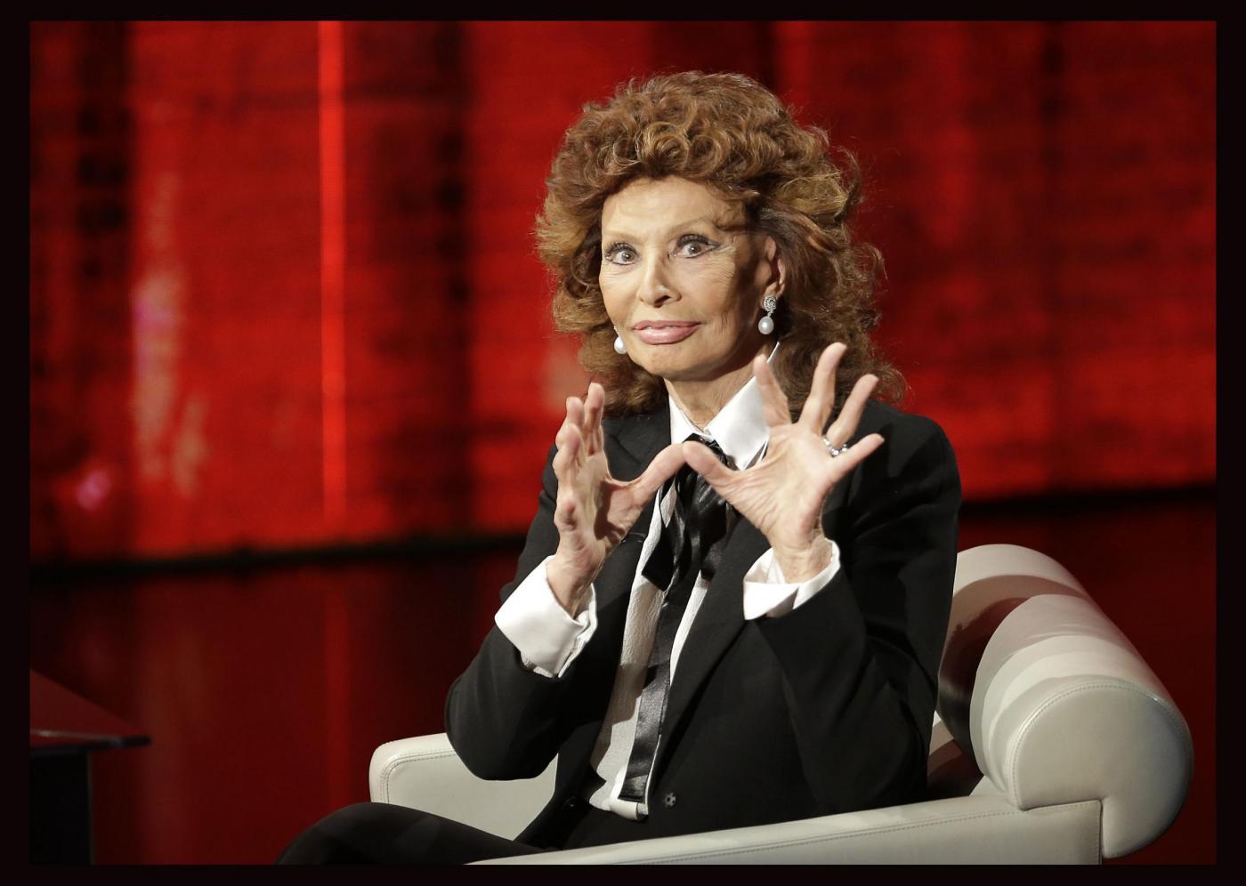 Sophia Loren a Che Tempo Che Fa